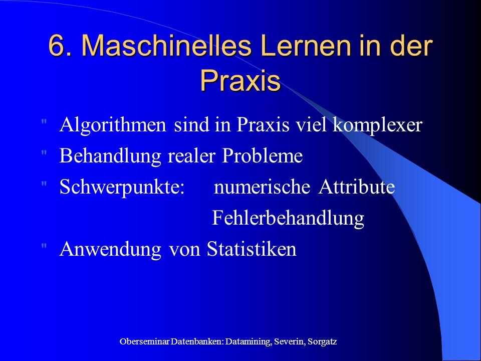 6. Maschinelles Lernen in der Praxis