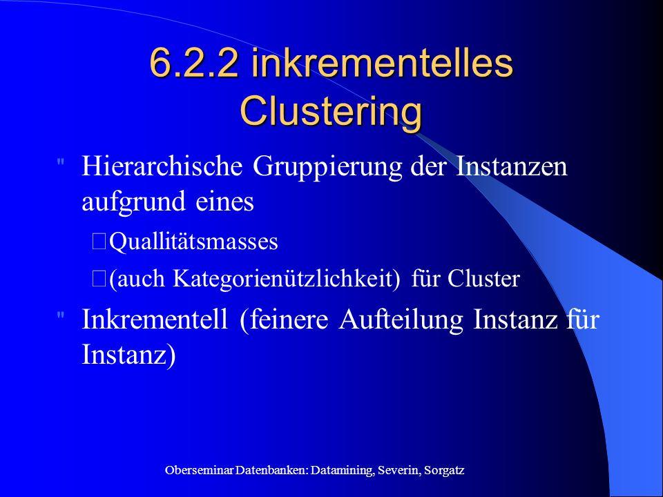 6.2.2 inkrementelles Clustering