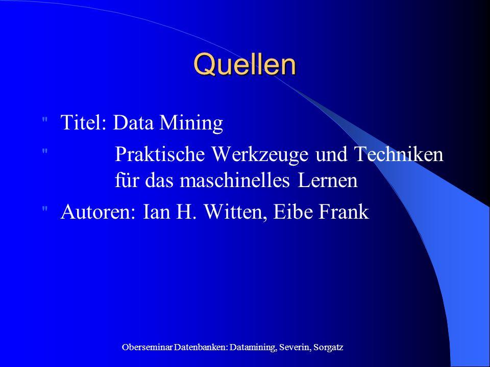 Quellen Titel: Data Mining