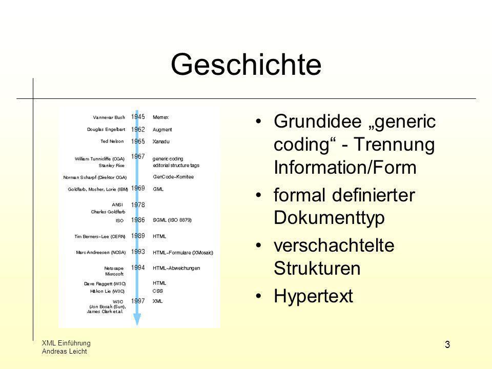 """Geschichte Grundidee """"generic coding - Trennung Information/Form"""