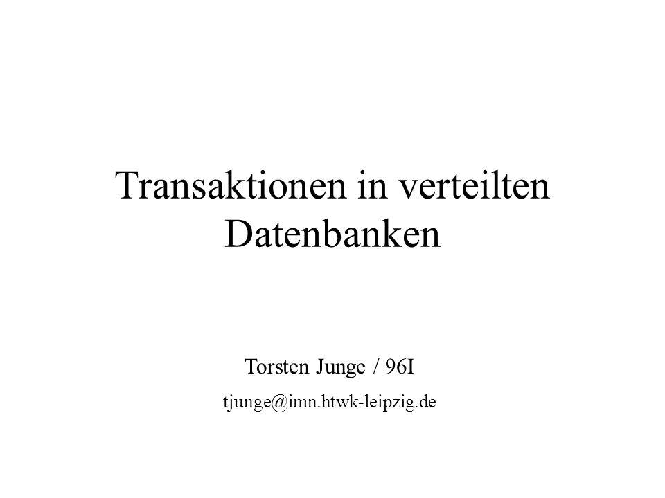 Transaktionen in verteilten Datenbanken