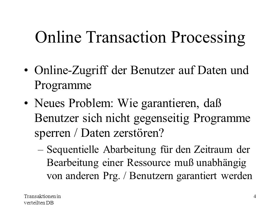 Online Transaction Processing