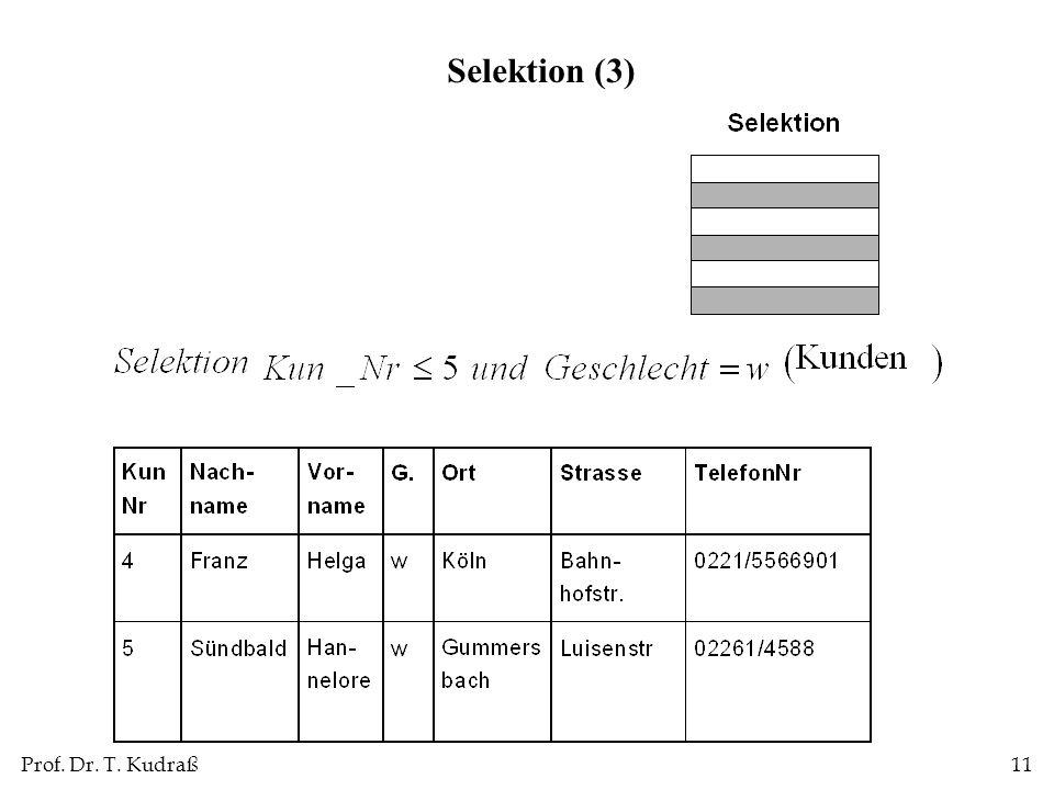 Selektion (3)