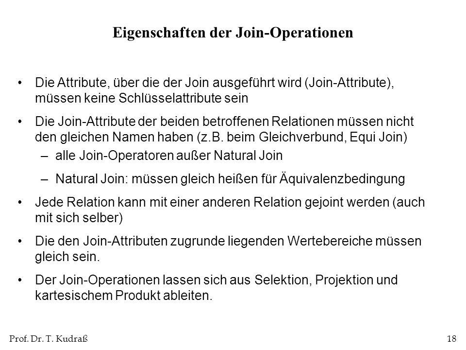 Eigenschaften der Join-Operationen