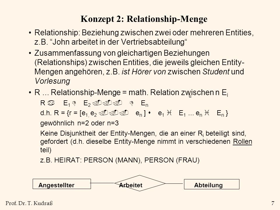 Konzept 2: Relationship-Menge