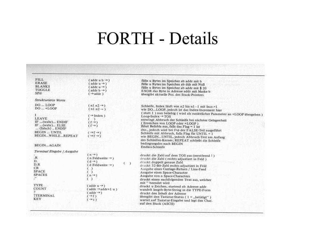 FORTH - Details
