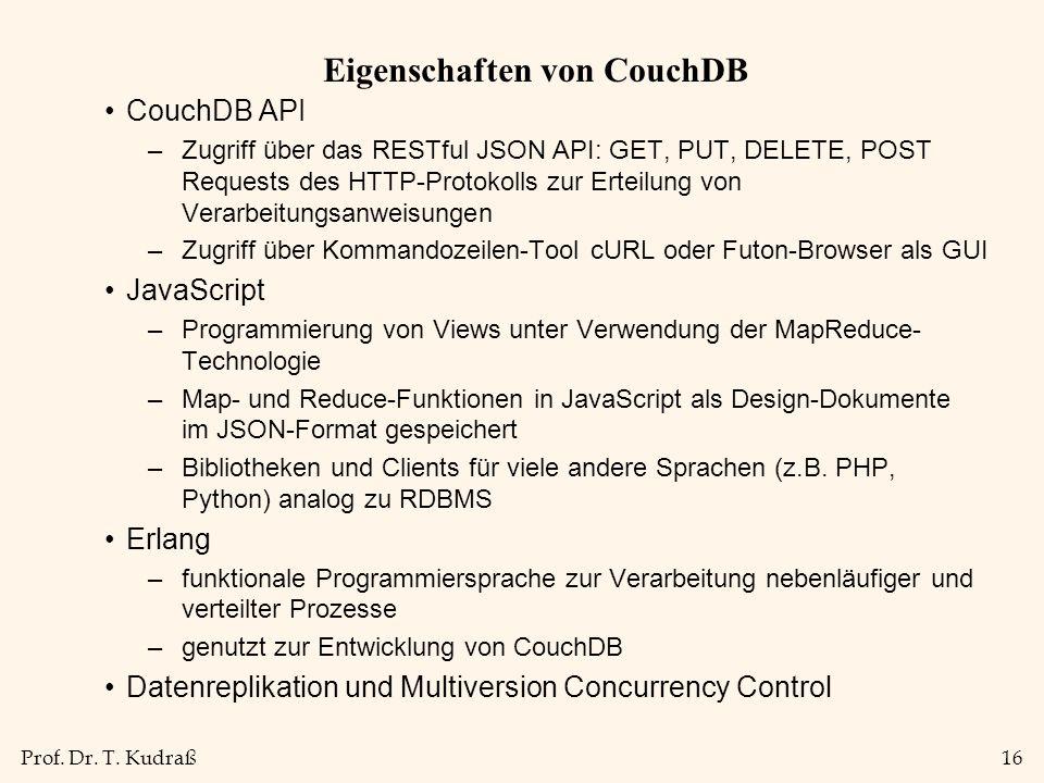 Eigenschaften von CouchDB