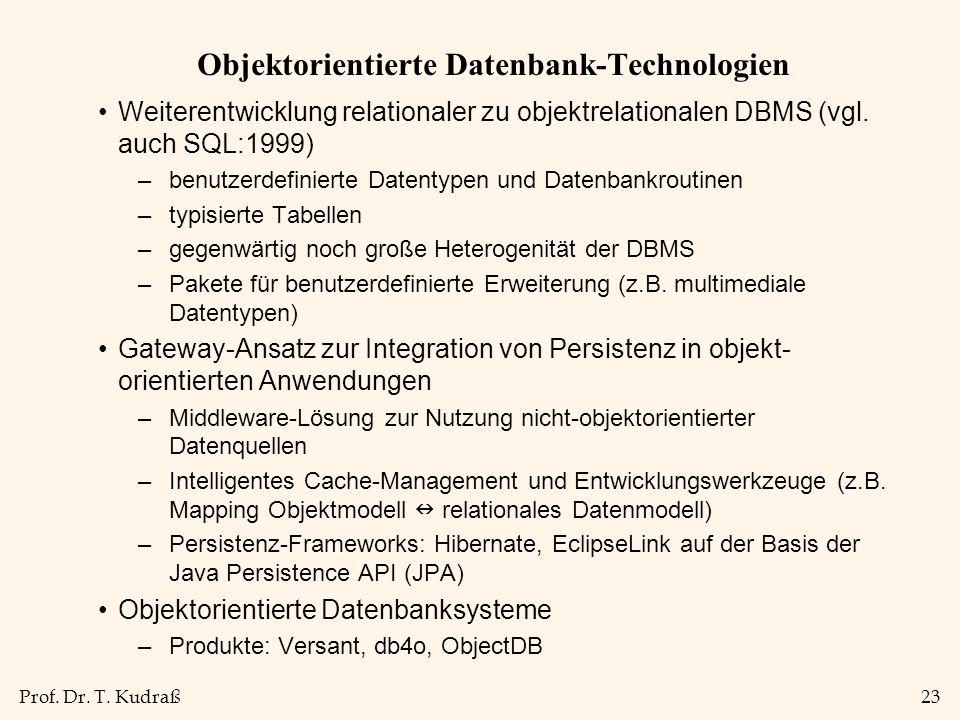 Objektorientierte Datenbank-Technologien