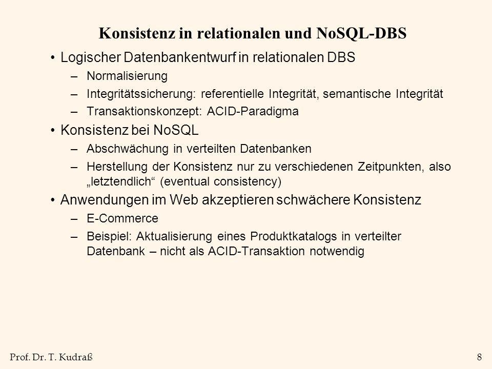Konsistenz in relationalen und NoSQL-DBS