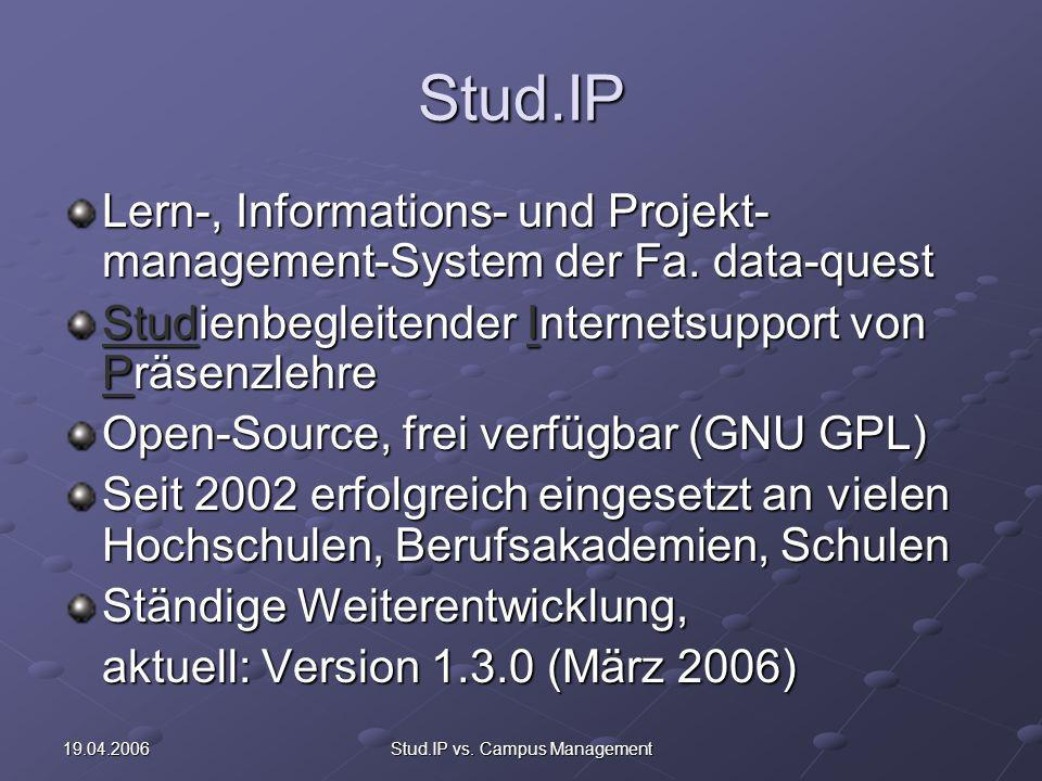 Stud.IP vs. Campus Management