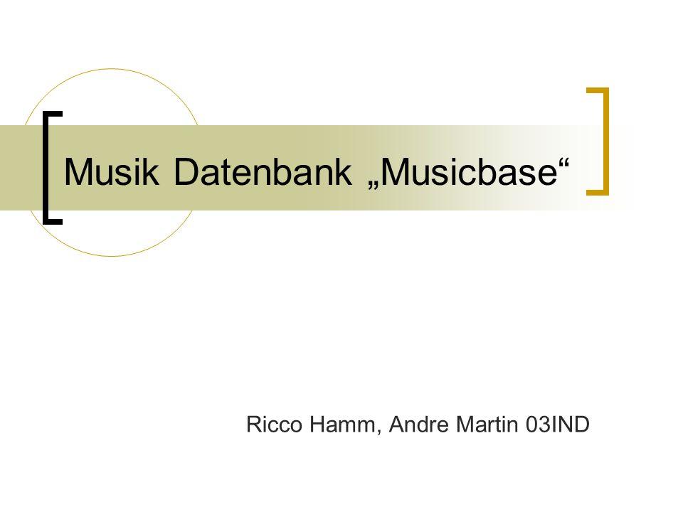 "Musik Datenbank ""Musicbase"