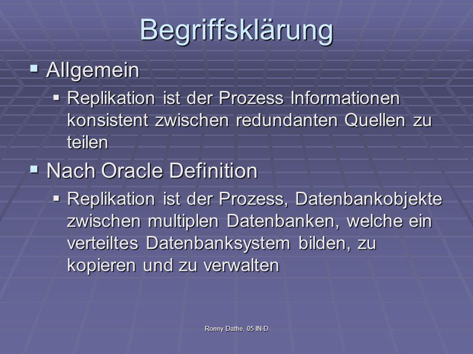 Begriffsklärung Allgemein Nach Oracle Definition