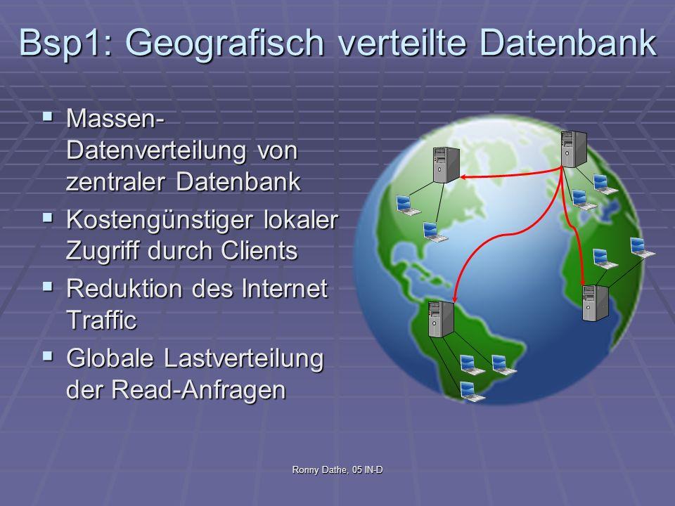 Bsp1: Geografisch verteilte Datenbank