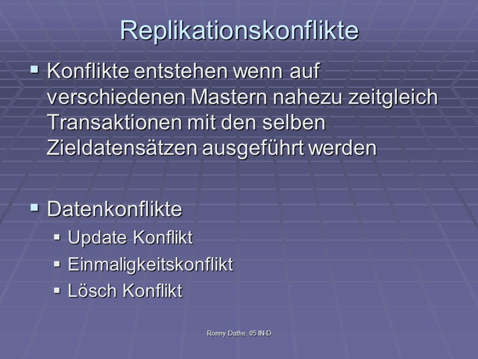 Replikationskonflikte