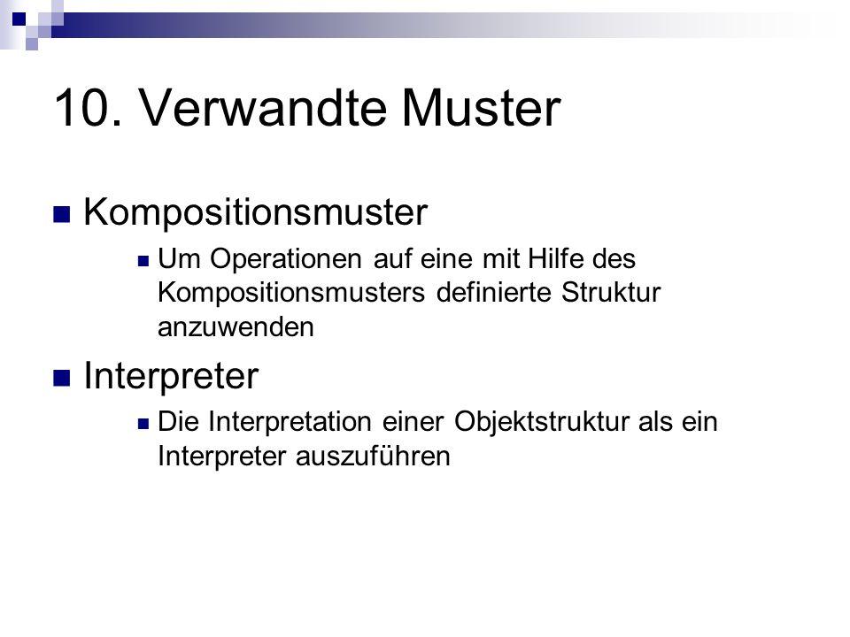 10. Verwandte Muster Kompositionsmuster Interpreter