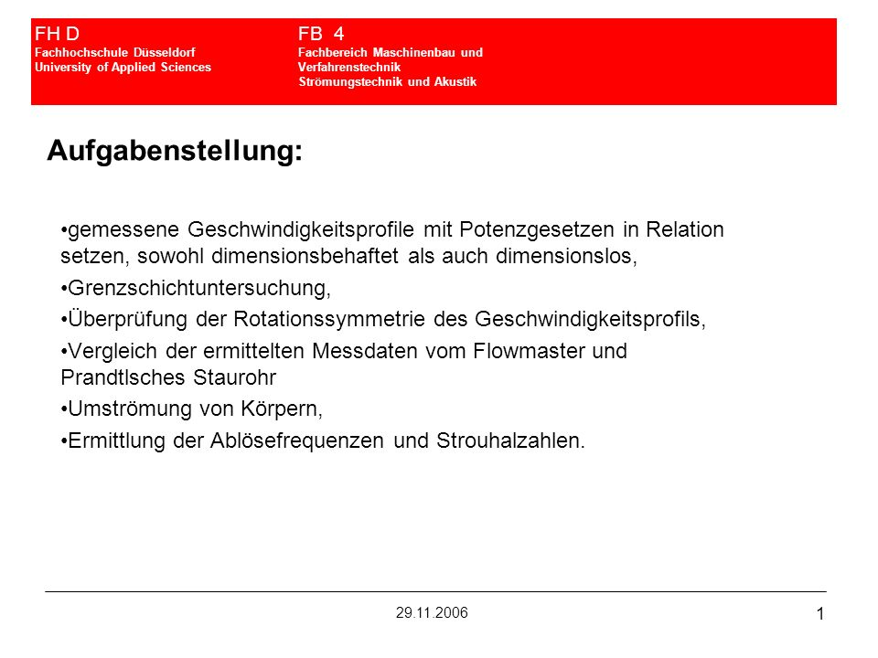 FH D. FB 4 Fachhochschule Düsseldorf