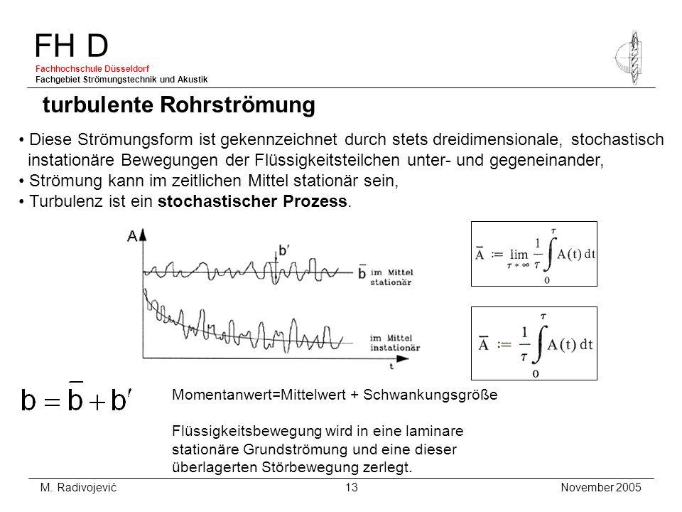 turbulente Rohrströmung