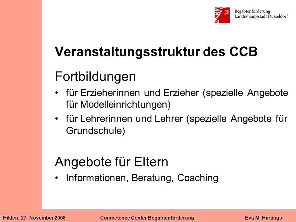 Veranstaltungsstruktur des CCB