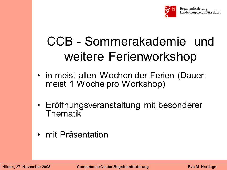 CCB - Sommerakademie und weitere Ferienworkshop