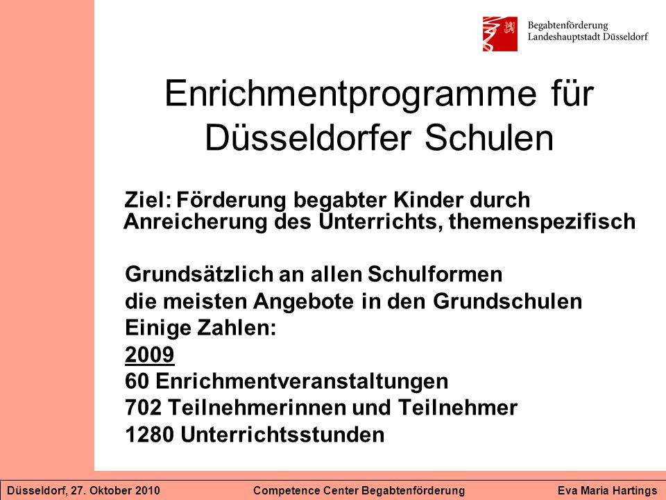 Enrichmentprogramme für Düsseldorfer Schulen