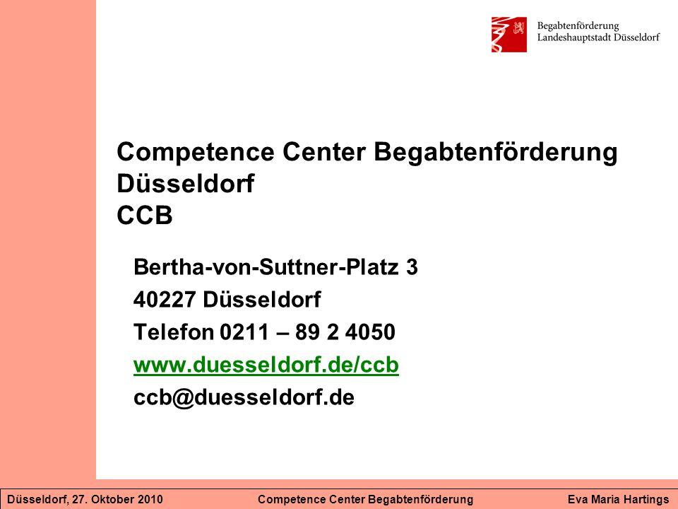 Competence Center Begabtenförderung Düsseldorf CCB