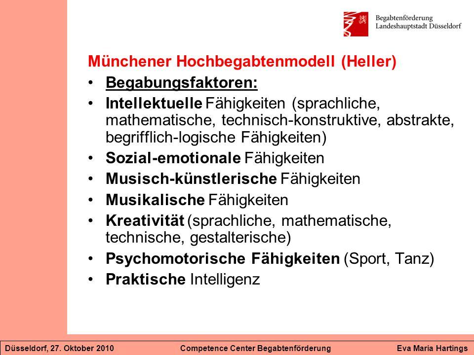 Münchener Hochbegabtenmodell (Heller) Begabungsfaktoren: