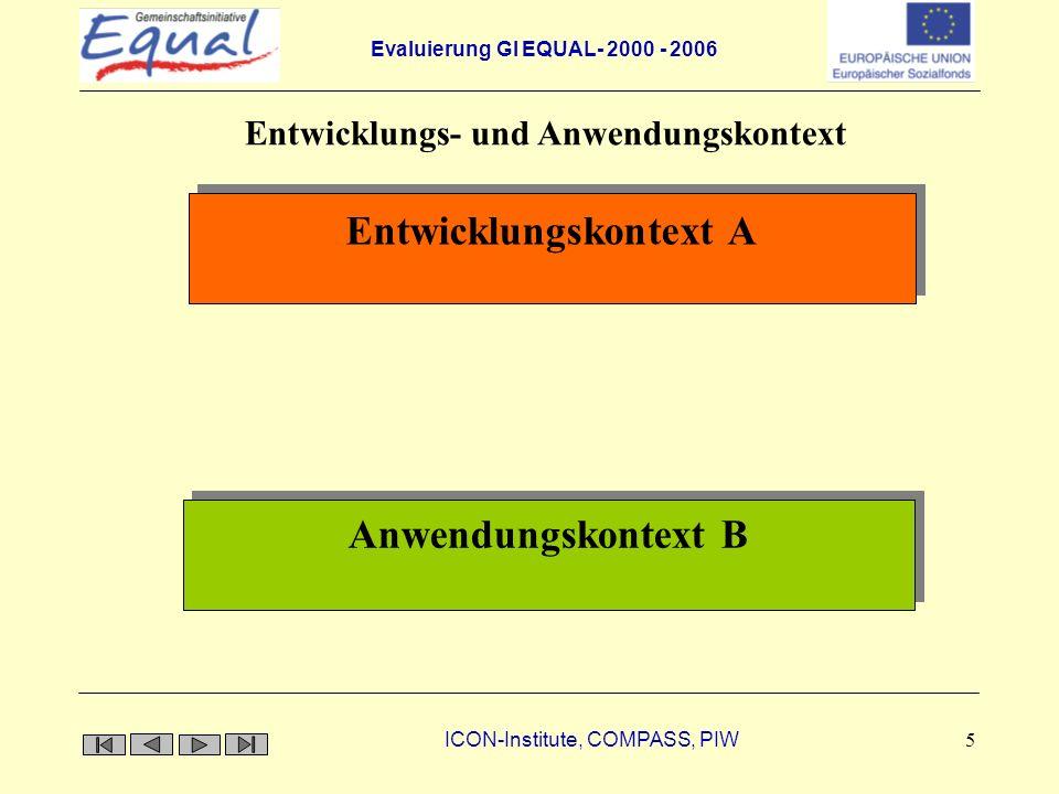 Entwicklungs- und Anwendungskontext Entwicklungskontext A