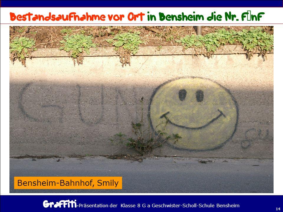 Bestandsaufnahme vor Ort in Bensheim die Nr. fünf