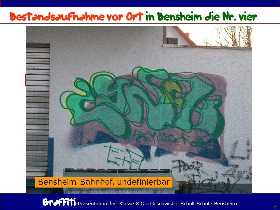 Bestandsaufnahme vor Ort in Bensheim die Nr. vier