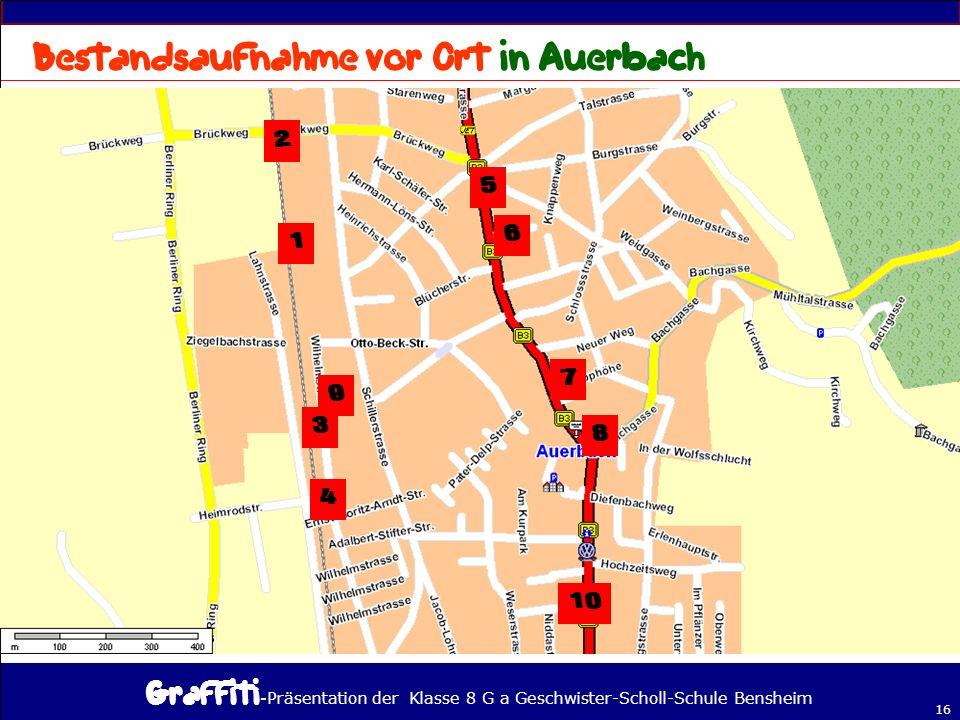 Bestandsaufnahme vor Ort in Auerbach