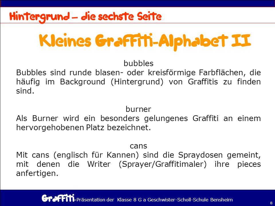Kleines Graffiti-Alphabet II
