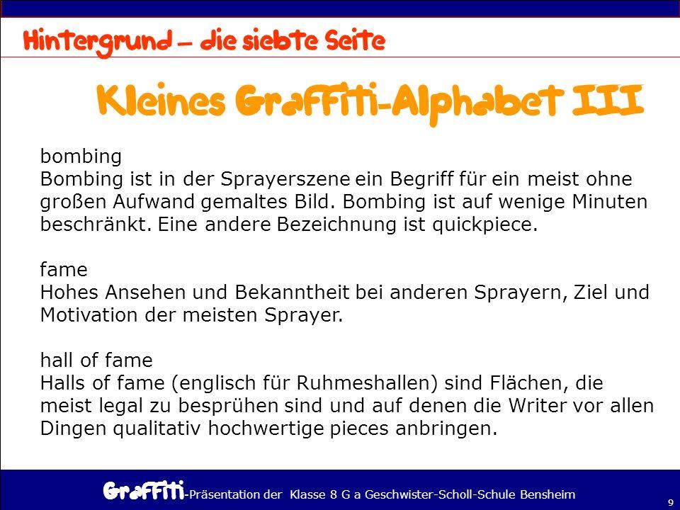 Kleines Graffiti-Alphabet III