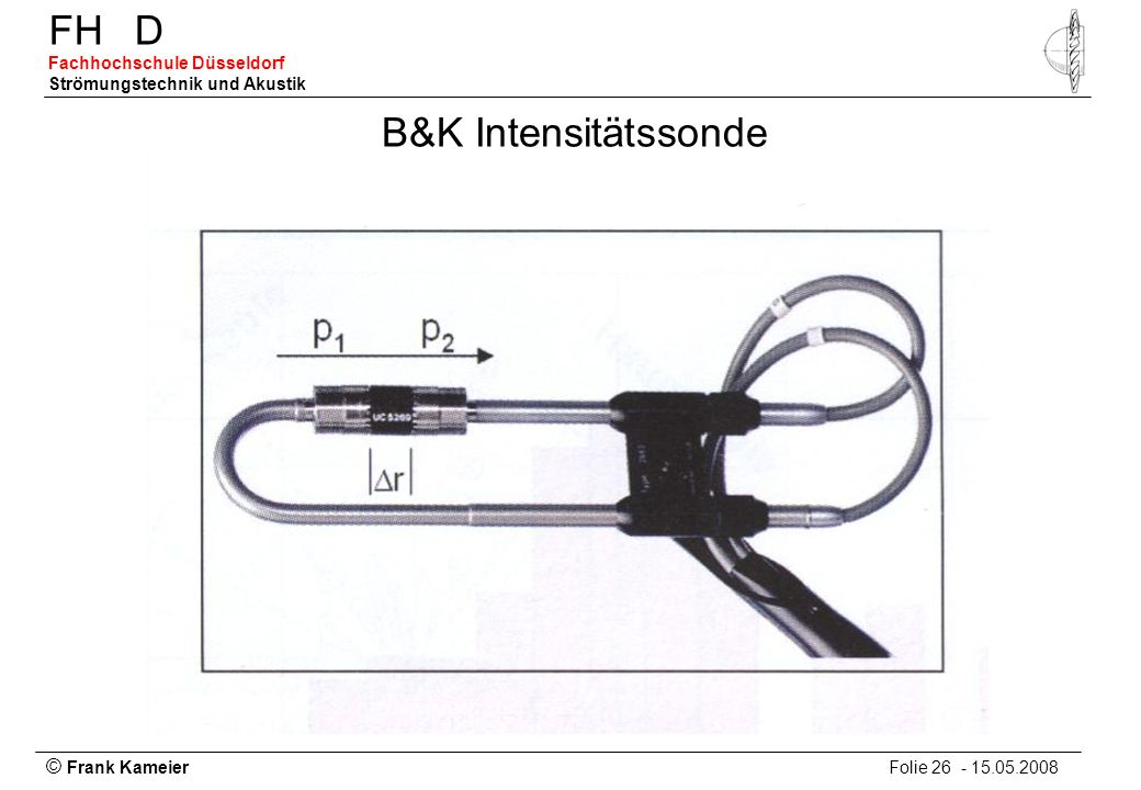 B&K Intensitätssonde