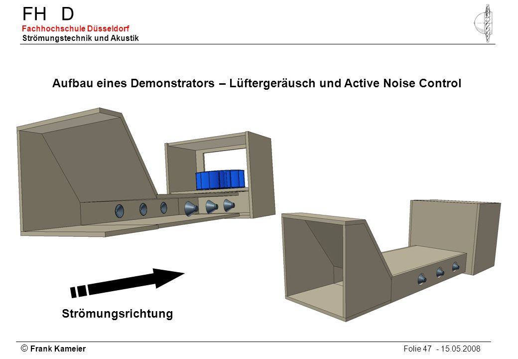 Aufbau eines Demonstrators – Lüftergeräusch und Active Noise Control
