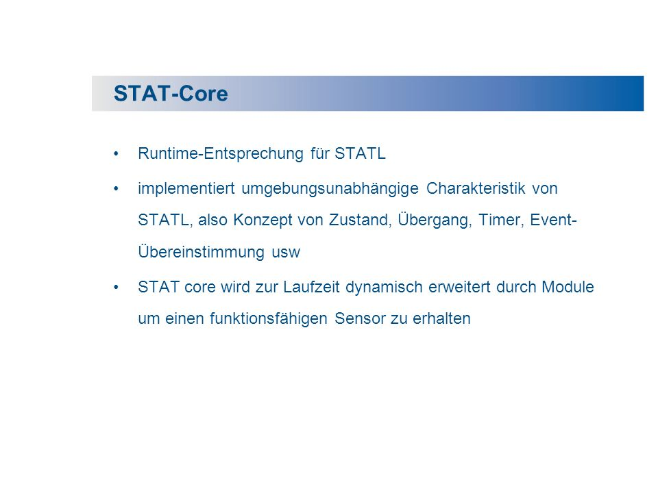 STAT-Core Runtime-Entsprechung für STATL