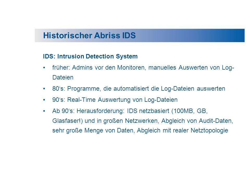 Historischer Abriss IDS