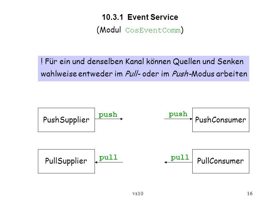 10.3.1 Event Service (Modul CosEventComm)