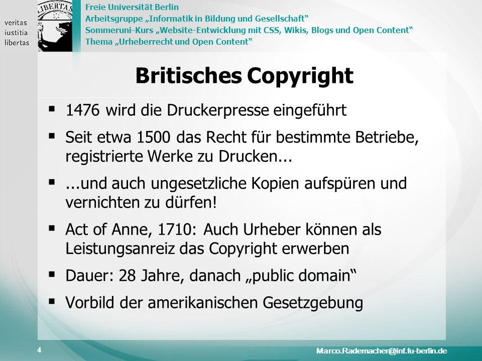 Britisches Copyright 1476 wird die Druckerpresse eingeführt