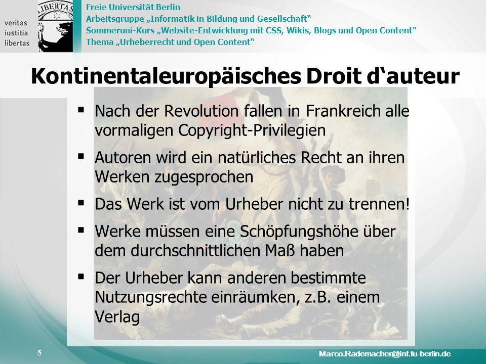 Kontinentaleuropäisches Droit d'auteur
