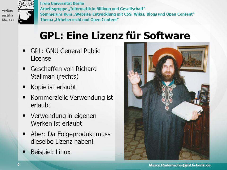 GPL: Eine Lizenz für Software