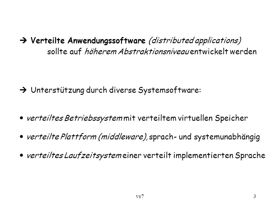  Verteilte Anwendungssoftware (distributed applications)
