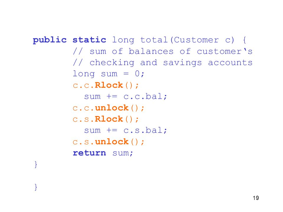 public static long total(Customer c) {