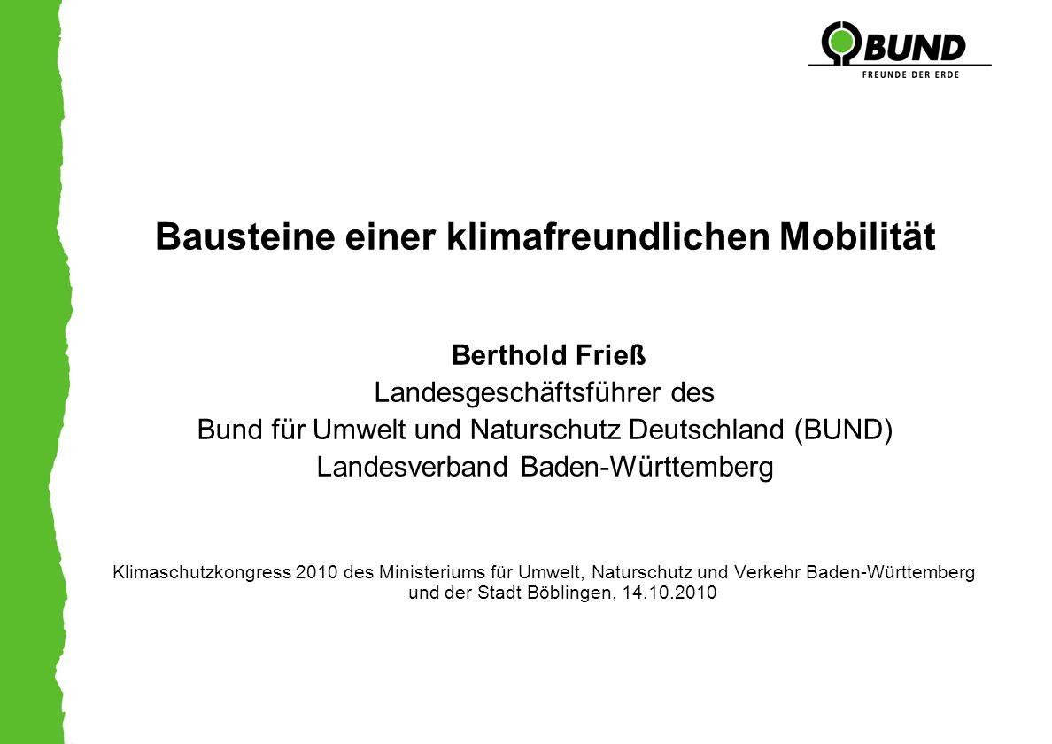 Bausteine einer klimafreundlichen Mobilität