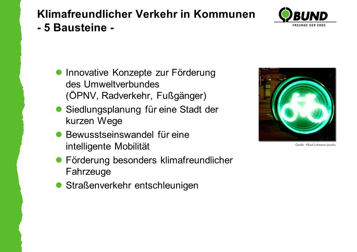 Klimafreundlicher Verkehr in Kommunen - 5 Bausteine -