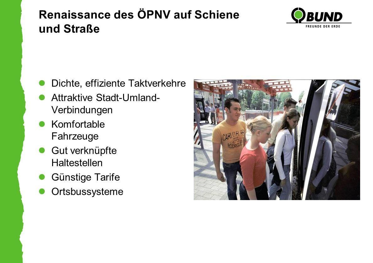 Renaissance des ÖPNV auf Schiene und Straße