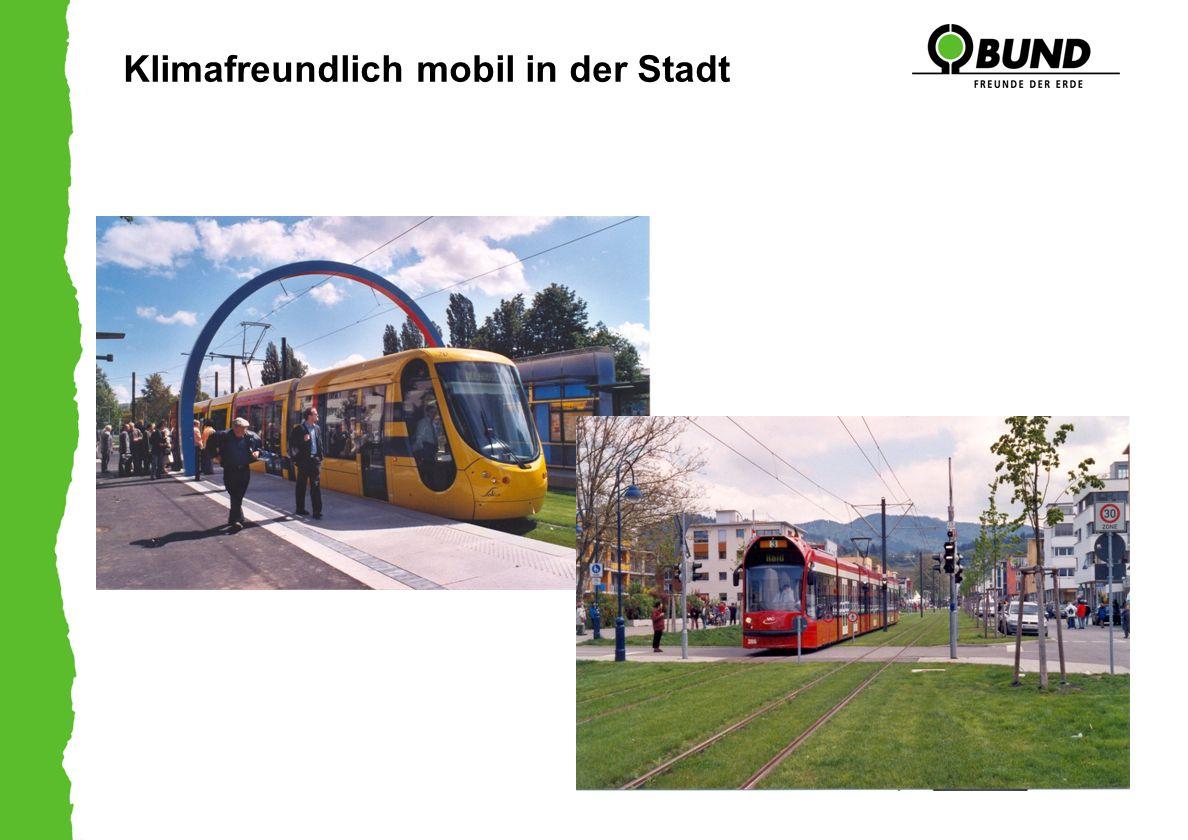 Klimafreundlich mobil in der Stadt