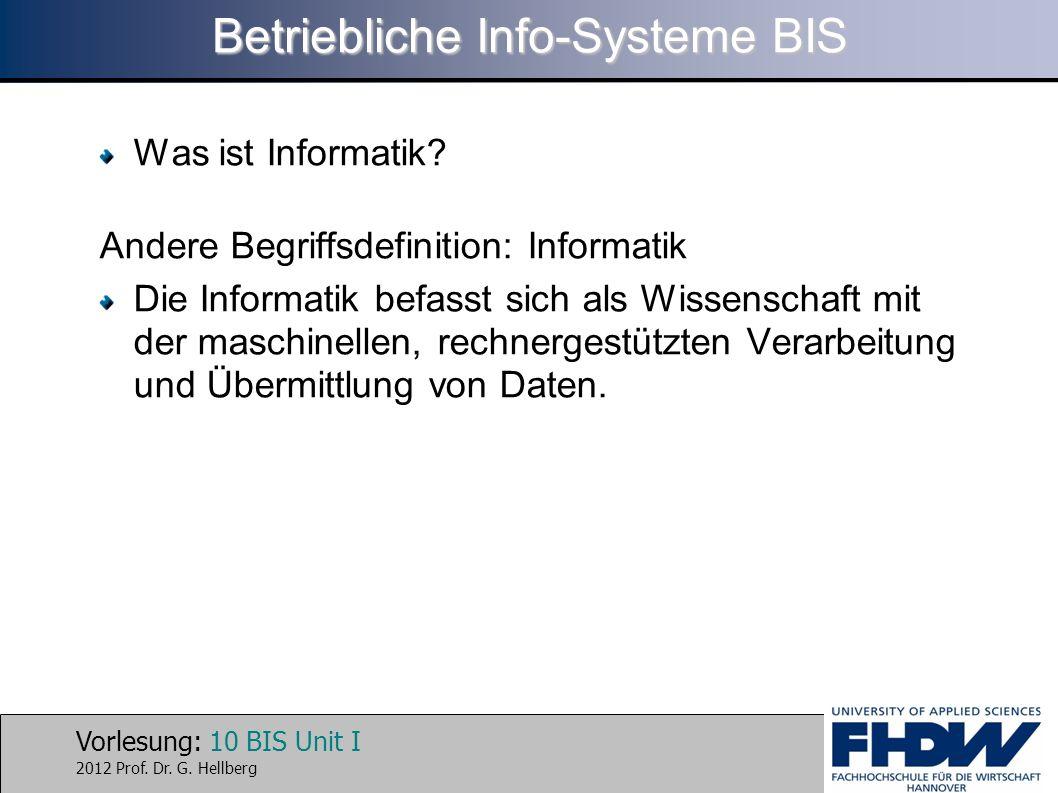 Betriebliche Info-Systeme BIS