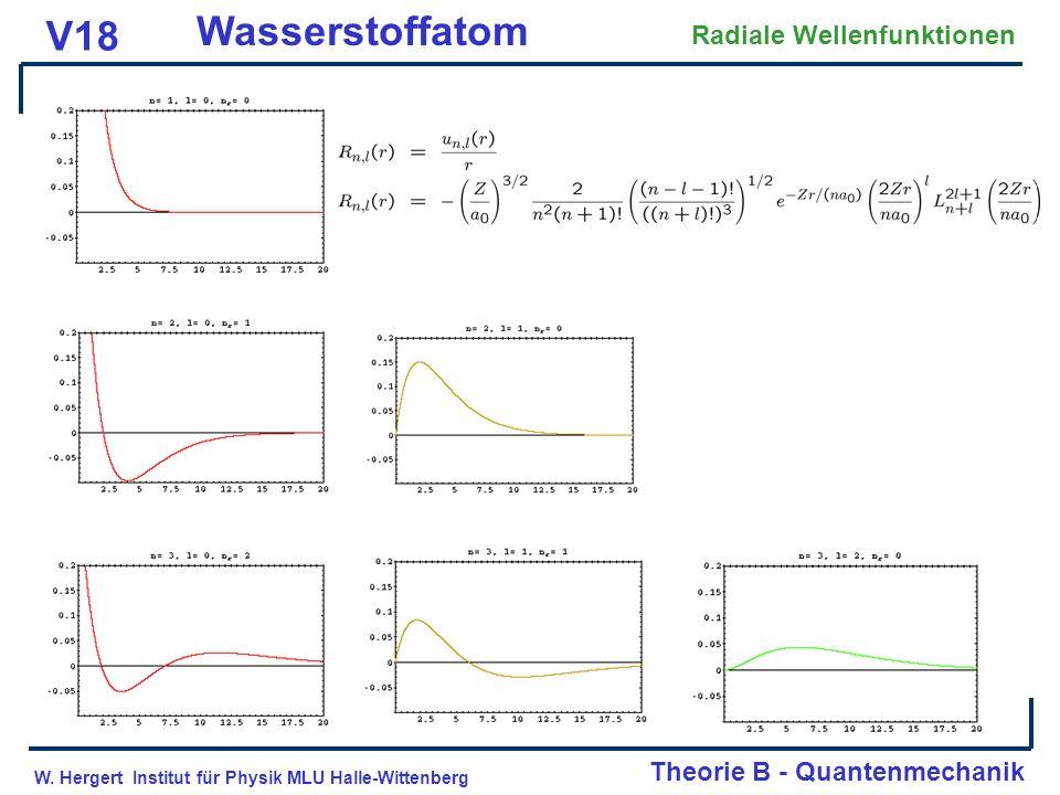 Wasserstoffatom V18 Radiale Wellenfunktionen