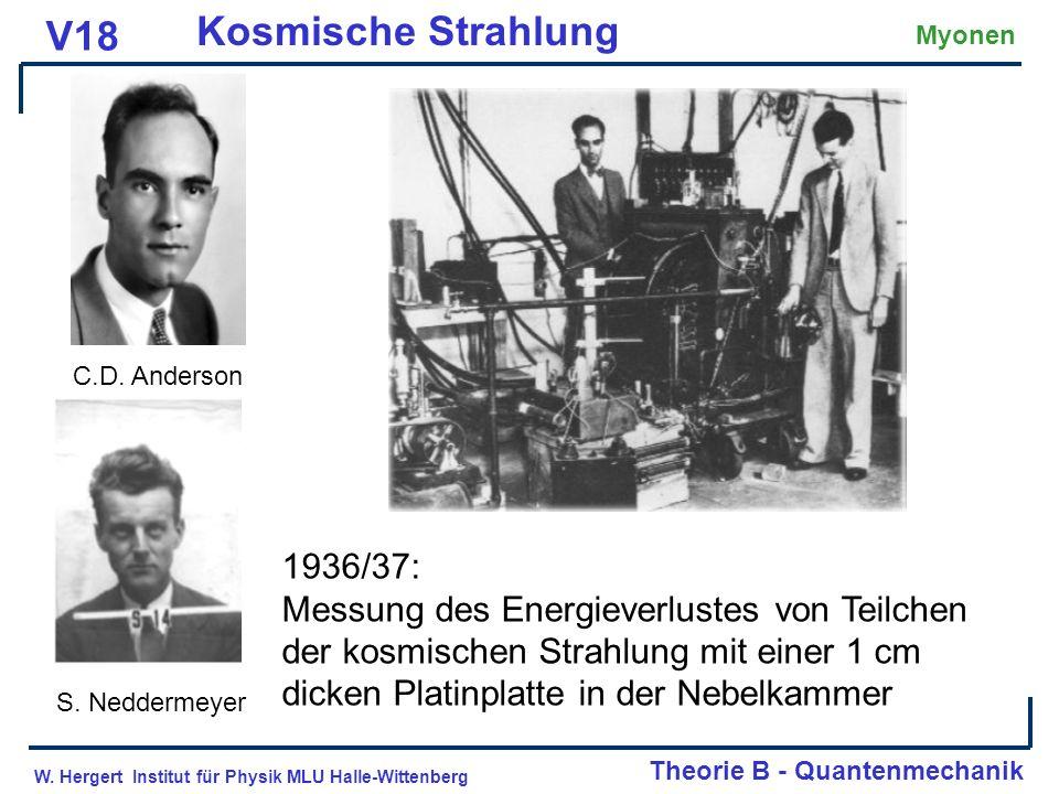 Kosmische Strahlung V18 1936/37: