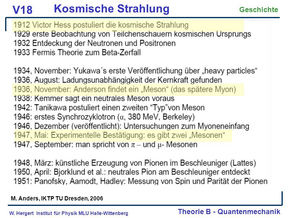 Kosmische Strahlung V18 Geschichte Theorie B - Quantenmechanik